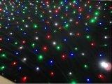 RGBWの星の布の照明3X6メートルLEDの星のカーテンの結婚式のイベントDJのナイトクラブの段階の背景幕