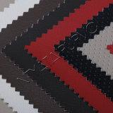 Cuir bon marché de PVC des prix de bonne qualité pour la portée de couverture de véhicule de présidence de sofa avec le support tricoté