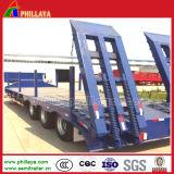 Hydraulische hintere Rampen-Aufbau-Maschinerie, die niedrigen Bett-Schlussteil transportiert
