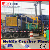 Planta de la trituradora de rodillo de China Mobile para machacar materiales mineros