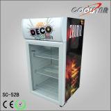 Refrigerador pequeno do indicador da porta de vidro desktop (SC52B)