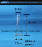 De Fles van het Glas van de Vorm van de driehoek voor de Olie van de Sesam