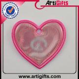 Forme de coeur de Fox d'étiquette de Greflector de forme de modèle de propriétaire