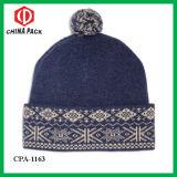 warm 100% 숙녀 모직은 Bobble 모자 (CPA-1163)를