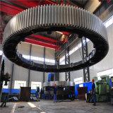 45のモジュールのロータリーキルンのための大きい/Heavyの鋳造物の帯ギヤリング