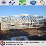 Светлый пакгауз стальной структуры с колонкой сопротивления ветра