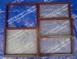 Ventana de aluminio esmaltada doble del marco de la ventana de la ventana de aluminio del oscilación (BEL-45/BEL-50)