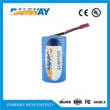 Inferior Sel-Descargar la batería de litio de la tarifa para el detector de humos (ER34615)
