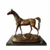 Dierlijke Beeldhouwwerk van het brons Single Horse Craft Deco Brass Statue Tpal-247