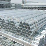 Tubo de acero galvanizado En39 de carbón de las BS para el andamio