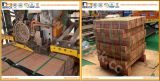 Bewegliches Abendessen-packten schnelle Verpackungssystem-Maschinen für Lehm-Ziegelsteine
