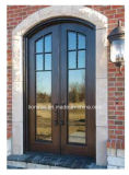 Portas do ferro feito de porta de entrada da segurança da alta qualidade com Baixo-e vidro