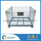 Rigid Metal Wire Basket Mesh Container Pallet Cage Lfor Industrial Warehouse Storage