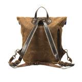 Холстины сбывания хорошего качества Backpack горячей изготовленный на заказ водоустойчивой напольный с кожаный уравновешиванием