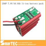 7.4V 10ah batería de ión litio 2s4p 18650 Paquete