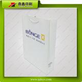 Impressão branca da bolsa da palavra da folha de ouro da cor do leite