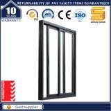 Ventana de desplazamiento de aluminio esmaltada doble gris resistente