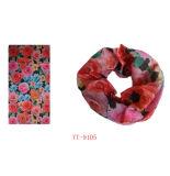 Rosafarbener und blauer Rosen-Blumen-EntwurfBandana (YT-9110)