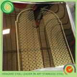 Placa de aço inoxidável decorativa inoxidável gravura a água-forte 304 de mármore da chapa de aço 201 da arquitetura do projeto do metal de Hermessteel