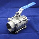3PC тяжелый тип шариковый клапан клапана с фиксировать Hanlde