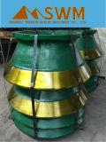 Il manganese parte la fodera della ciotola per il frantoio del cono di Symons