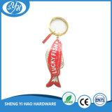 Beste Qualitätsglückliche Fisch-harter Decklack Keychain