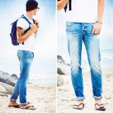 Pantaloni scarni dei jeans del denim degli uomini poco costosi di nuovo stile di alta qualità