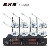 Système sans fil de microphone de conférence de fréquence ultra-haute du professionnel Bu-3980