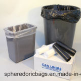 Sacco di immondizia di plastica resistente della guarnizione nera della stella del LDPE