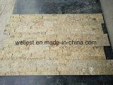 Pedra natural da pilha da pedra da borda do granito da pedra amarela da cultura para o revestimento da parede