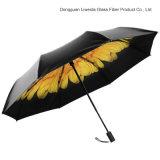 UVbeweissun-Strand-Regenschirm-Damen, die Blumen-Regenschirm falten