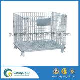 Gaiola galvanizada Stackable do armazenamento do equipamento do armazenamento da carga