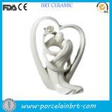 Regalo de boda espléndido de la decoración de la porcelana del corazón del amor