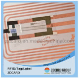 Contact van pvc van het huisdier RFID het Slimme/IC Markering Zonder contact met Spaander