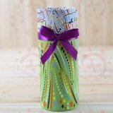 Crear el rectángulo de empaquetado del regalo para requisitos particulares de papel del tubo del té con la cinta