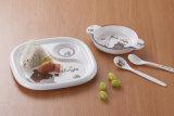 De de 3-verdeelde Plaat van het Jonge geitje van de melamine/Schotel van de Baby (NBG883)