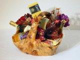 Le panier en bois exceptionnel fantastique classique de cadeau de racine