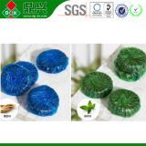 Bloque de desodorización estupendo del indicador azul del color del producto de limpieza de discos del tocador con la fragancia 50g del pino