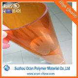 Folha rígida laminada colorida do PVC de 500 Mircon para o envoltório do cilindro