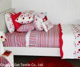 Streifen-Mädchen-Bettwäsche stellt 100% bequemes nettes weiches gemütliches ein