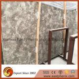 Parte superiore naturale di vanità della lastra del marmo del nero dell'inclusione in stanza da bagno