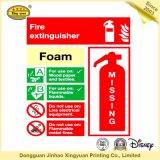 Etiqueta adesiva sensível do extintor de incêndio do CO2