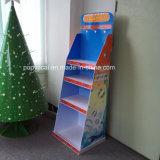 Cmyk druckte Pappfußboden-Bildschirmanzeige mit 6 Tellersegmenten für Spielwaren, Saisonpappausstellungsstand für Förderung!