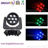 7 * 40W RGBW LED de cabeza móvil luz de la colada