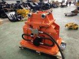 Compactador hidráulico de placas vibratórias para construção