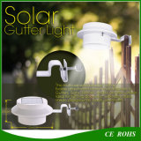 Jardim ao ar livre da lâmpada solar barata redonda do borne da cerca do preço 3LED que ilumina a luz solar da calha do trajeto da jarda