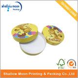 Изготовленный на заказ круглая коробка подарка печатание картона (QYZ016)