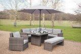 Sofa extérieur de meubles de jardin en osier de rotin de patio dinant le positionnement