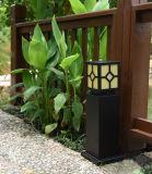 Lámpara solar del jardín de la luz del césped del hierro más nuevo