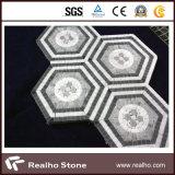 Azulejos de mosaico de piedra de mármol naturales para el suelo y la pared del cuarto de baño